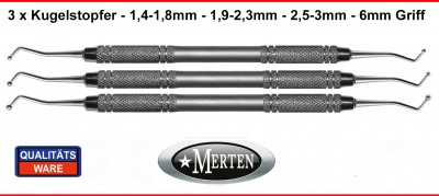 Kugelstopfer 0,8-1,2 / 1,9-2,3 / 2,5 -3 mm
