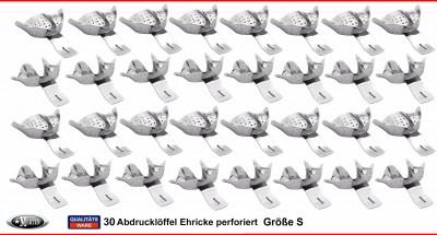 30 Abdrucklöffel nach Ehricke  - glatt -  alle Größen