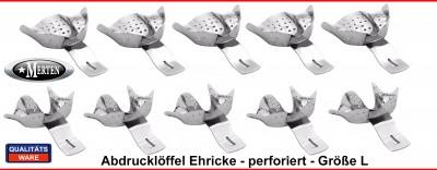 Abdrucklöffel nach Ehricke perforiert -  Größe 2 - L