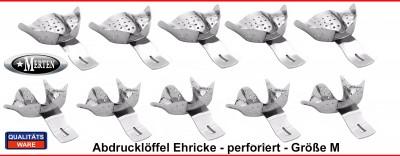 10 Abdrucklöffel nach Ehricke  - perforiert -  XL-1