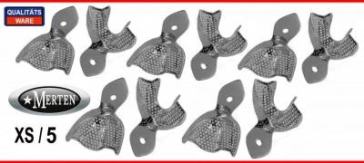 Abdrucklöffel perforiert - Rim-Lock  Größe XS/5