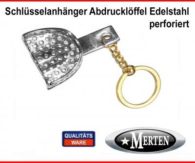 Schlüsselanhänger - Zahnmedizin- Abdrucklöffel perforiert