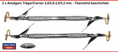 2 x Amalgam Träger / Carrier