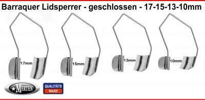 Barraquer Lidsperrer 10-13-15-17mm