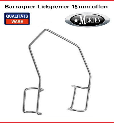 Barraquer Lidsperrer  Erwachsene Fenster - 15mm