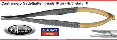 Castroviejo Mikro Nadelhalter 18 cm Länge - gerade