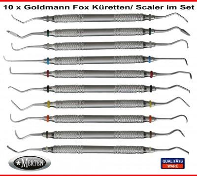 Scaler Zahnmedizin im Set  Goldmann-Fox