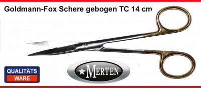 Schere Goldmann-Fox 13 cm gebogen