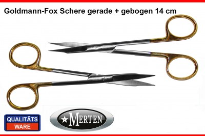 Goldmann -Fox Schere gebogen / gerade 1