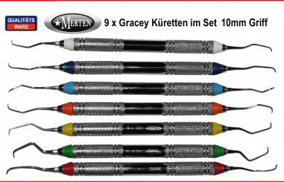 Gracey Küretten 7 x 10 mm Hohlgriffe