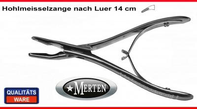 Hohlmeißelzange Luer 14 cm