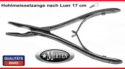 Hohlmeißelzange Luer 17 cm
