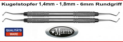 Kugelstopfer 1,4 mm +  1,8 mm