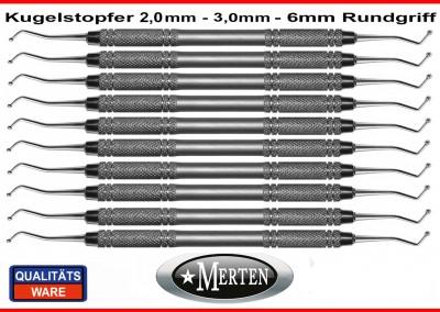 10 x Kugelstopfer 2,0 - 3,0 mm