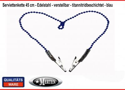 Serviettenkette - Lätzchenkette - Kugelkette blau  verstellbar