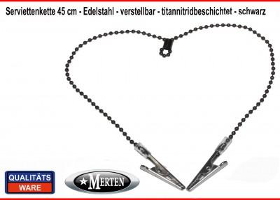 Serviettenkette - Lätzchenkette - Kugelkette - schwarz