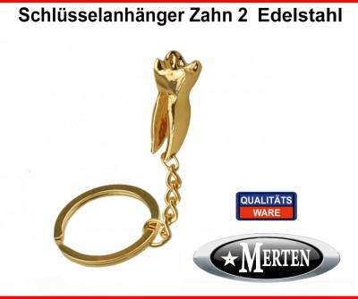 Schlüsselanhänger  Backenzahn vergoldet