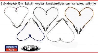 Serviettenkette verstellbar Zahnarzt  - 45 cm - Lätzchenkette -