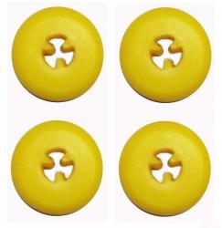4 Silikon-Einsätze gelb - Halterungen für Bohrer-Tray  - Tray - Bohrerständer