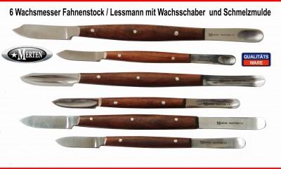 Wachsmesser  Fahnenstock und   Lessmann