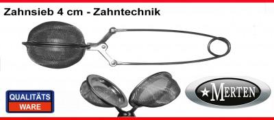Sieb Zahnsieb 4 cm - Ausbrühsieb - Abdampfsieb Zahntechnik  - Kl
