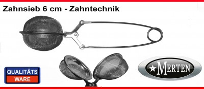 Sieb Zahnsieb 6 cm - Ausbrühsieb - Abdampfsieb Zahntechnik  - Kl
