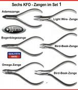 6 Kieferorthopädie Zangen KFO SET 1 Tweed Zange