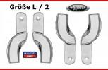 4 Abdrucklöffel partiell Größe L/2 glatt - Rim Lock - Edelstahl alle Quadranten