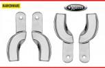 4 Abdrucklöffel partiell glatt - Rim Lock - Größe M/3  - Edelstahl - Quadranten