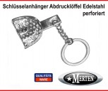 Schlüsselanhänger perforiert  Abdrucklöffel Edelstahl Zahnarzthelferin Zahnarzt