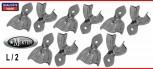 Abdrucklöffel 10 perforiert  Rim-Lock  L =  Large / Größe 2 - Edelstahl