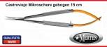 Mikroschere  Castroviejo - Mikro Schere  GEBOGEN 15 cm