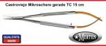 Mikroschere  Castroviejo   gerade 15 cm - TC Hartmetall / Perma-Cut