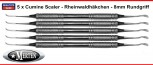 Kürette Columbia 4R/4L - 5 x - farbkodiert schwarz -8mm Edelstahl Hohlgriff