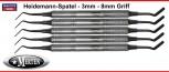 5 Heidemann-Spatel  - 8 mm Hohlgriff - Breite 3 mm  Heidemann Spatula -
