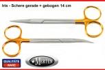 2 x Iris Schere Fadenschere  - gebogen / gerade 11,5 cm - Hartmetall / Perma-Cut