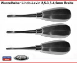 3  Lindo Levin Wurzelheber 2,5-3,5-4,5 mm -  Luxationsinstrument Hebel