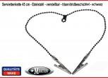 Serviettenkette - Lätzchenkette - Kugelkette - schwarz - Edelstahl - verstellbar