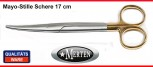 Mayo Stille Schere -  17 cm gebogen -  TC Carbid-Stahl Einlage - PERMA CUT