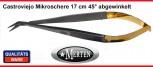 Mikroschere  Castroviejo - abgewinkelt 45°   17 cm - TC Hartmetall / Perma-Cut