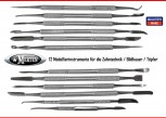 12 Instrumente Zahntechnik Set 2 - Modellierinstrumente Dentallabor Töpferei