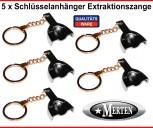 5 Schlüsselanhänger  Zahnarzt -  Abdrucklöffel glatt