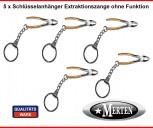 5 Schlüsselanhänger  Extraktionszange  ohne Funktion  Zahnarzt Zahnarzthelferin