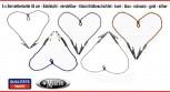 5 x Serviettenkette verstellbar 45 cm  Edelstahl - Zahnarzt   Lätzchenkette