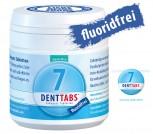 Denttabs 125  ohne Fluorid- fluoridfrei- Zahnputztabletten  -  Stevia Mint
