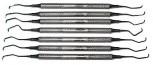 7  Gracey  Küretten im Set - 6mm Rundgriffe