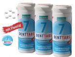 3 x 380 Denttabs Zahnputztabletten - Zahntabletten - STEVIA-MINT = 760 Denttabs