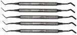 5 Heidemann-Spatel  - 8 mm Hohlgriff - Breite 2 mm  Heidemann Spatula