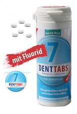 "380 Denttabs Zahnputztabletten - Zahntabletten -  STEVIA-MINT "" mit Fluorid"