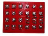 24 Kofferdam Klammern im SET 1 - Seidenmatt -Kofferdamklammern Rubber Dam Clamps